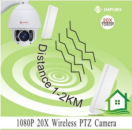 Wireless IP Camera Dome PTZ Outdoor 2MP 1080p Wifi Security Cam HD 1080p 2X Zoom Card Slot