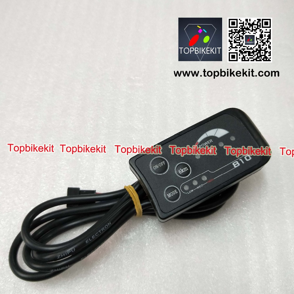Ebike Display Ebike LED Display 24V / 36V / 48V LED810 Display Level Meter Panel 4wires For Electric Bike / Ebike / E-scooter