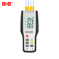 WHDZ HT 9815 Digital K Type Thermocouple Thermometer 4 Channel Thermocouple Probe Sensor Industrial Temperature Test