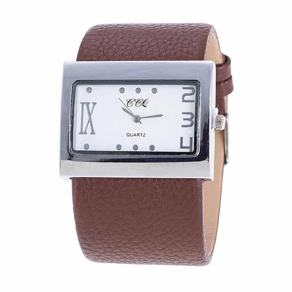 Reloj de pulsera de cuarzo CCQ marca superior 2019 para hombre y mujer reloj de pulsera de cuarzo reloj de pulsera para mujer reloj masculino de 6 colores * E