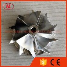 RHF4H 40,66/52,51 мм 5+ 5 лезвий Высокая производительность турбокомпрессора заготовка/фрезерный/алюминий 2618 колеса компрессора