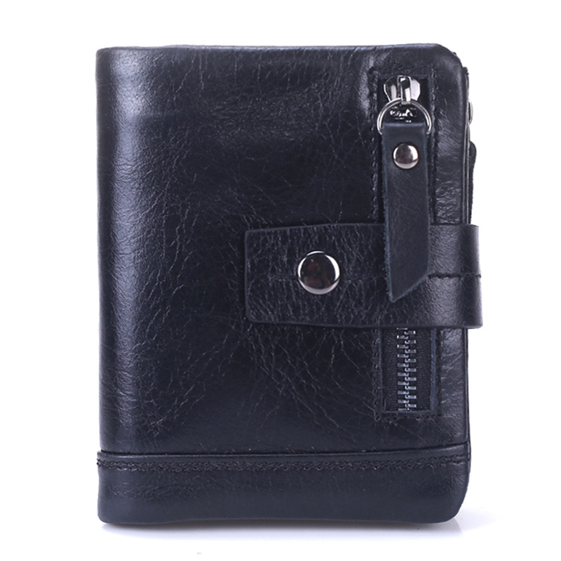 Luxury Vintage Casual 100% Real Genuine Cowhide Oil Wax Leather Men Short Bifold Wallet Wallets Purse Coin Pocket Male Zipper летняя шина nexen n fera su1 275 35 r18 99w