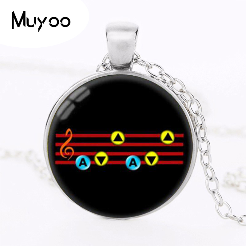 The Legend of Zelda Pendant Ocarina of time Necklace Song of Jewelry Glass Dome Pendant Necklace HZ1