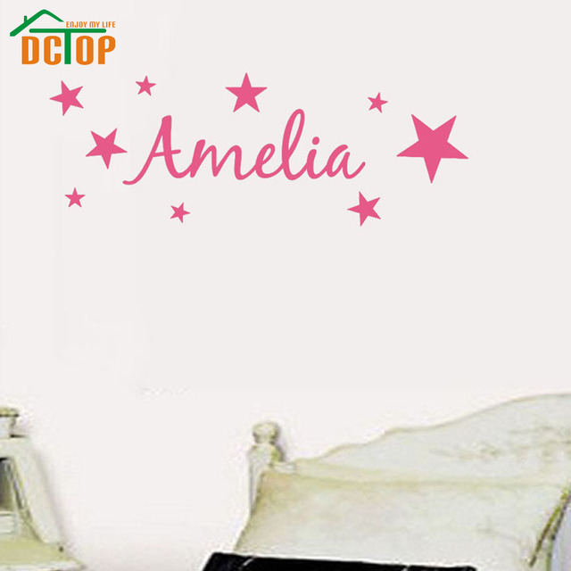 aliexpress com buy dctop customized name girls bedroom wall decal good ideas for personalised wall decals uk