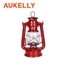 Lámpara de queroseno clásica Retro de 24 cm, 6 colores, 235 LED regulable, keroseno, linternas, mecha, luces portátiles, lámpara de huracán de parafina