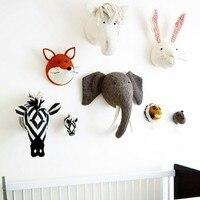 3d diy الطفل اليدوية حيوانات محشوة الفيل رئيس اللعب الشنق الفني غرفة الأطفال جدار غرفة الاطفال الجدار الديكور الهدايا طفل