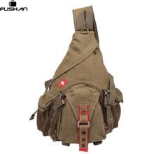 Neue 2016 Mode Ausrüstung Multifunktions Brust taschen leinwand mann Messenger Bags, Männer Unisex Schulter Rucksäcke Pack taschen