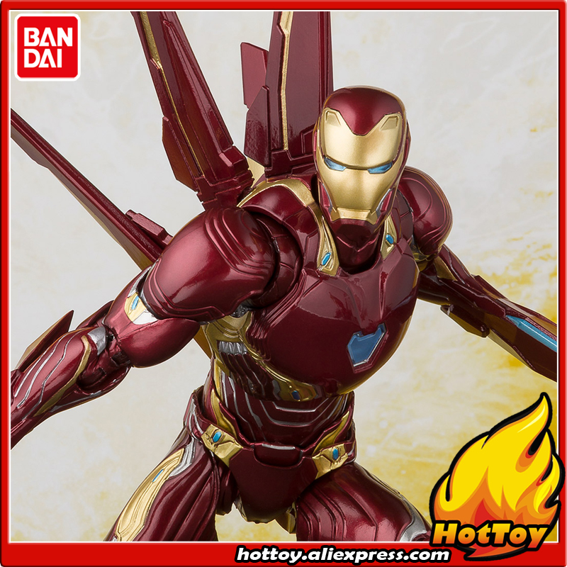 100% Original BANDAI S. H. Figuarts (SHF) figurine d'action Exclusive-Iron Man MK Mark 50 NANO ensemble d'arme