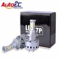 AutoEC 1 set 7 P COB Faro H7 9006 HB4 9005 HB3 H1 H8 H9 H11 H3 90 W 6000LM Kit Fascio Lampadine Dell'automobile led # LN64