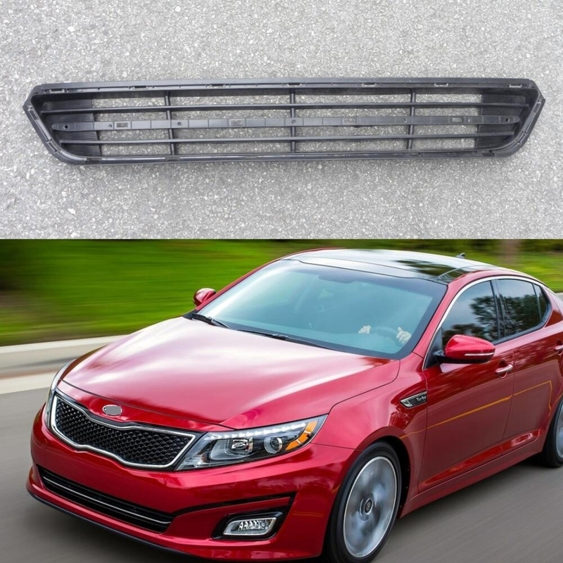 1Pcs Mesh Radiator Front Bumper Grill Lower Grille Insert for Kia Optima 2014-2015 free shipping front center grill grid grille cover trim for 2014 2016 for toyota corolla