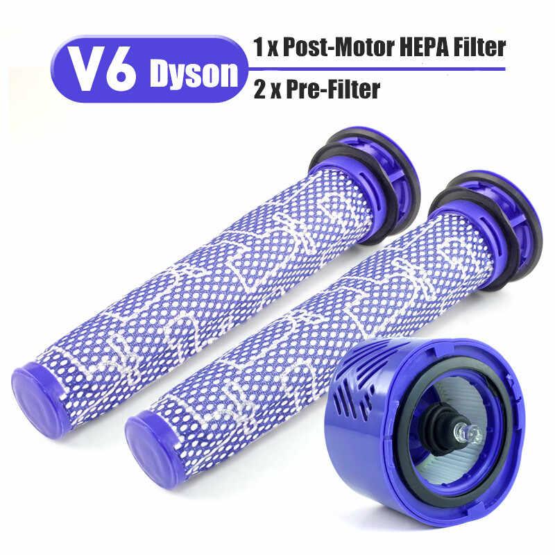 3 cái/bộ Trước & Sau Xe Máy BỘ Lọc HEPA Bộ Dyson V6 DC59 Hút Phần phù hợp với một phần DY-96674101 & DY-96566101