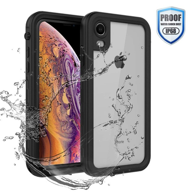 Coque étanche pour iPhone XR X XS Max 6 6S 7 8 Plus 360 coque arrière robuste et transparente avec Film de protection décran