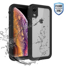 Waterproof Case for iPhone XR X XS Max 6 6S 7 8 Plus 360 Full Body Rugged Clear Back Case Cover with Screen Protector Film