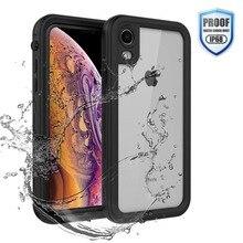 מקרה עמיד למים עבור iPhone XR X XS מקסימום 6 6S 7 8 בתוספת 360 מלא גוף מחוספס ברור בחזרה מקרה כיסוי עם מסך מגן סרט
