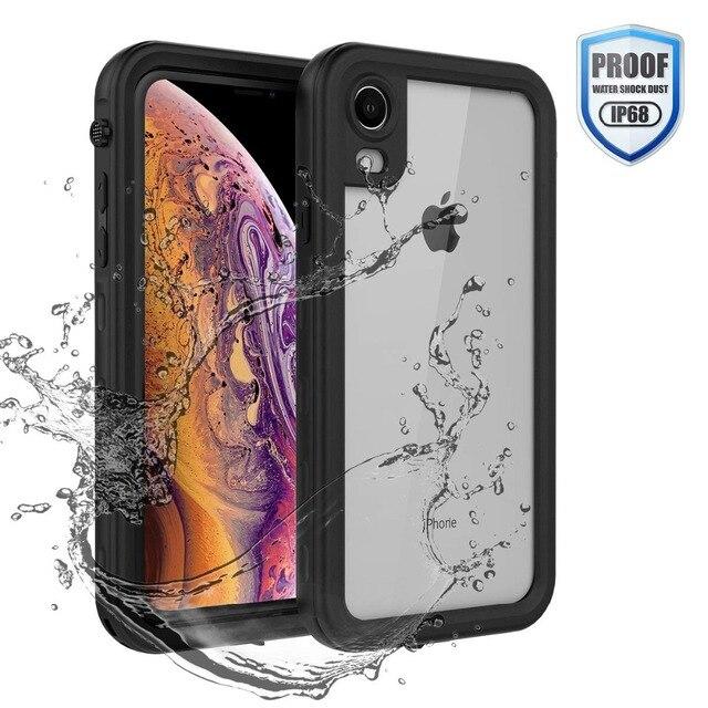 กรณีกันน้ำสำหรับ iPhone XR X XS MAX 6 6S 7 8 Plus 360 เต็มรูปแบบ CLEAR ด้านหลังเครื่องป้องกันหน้าจอฟิล์ม