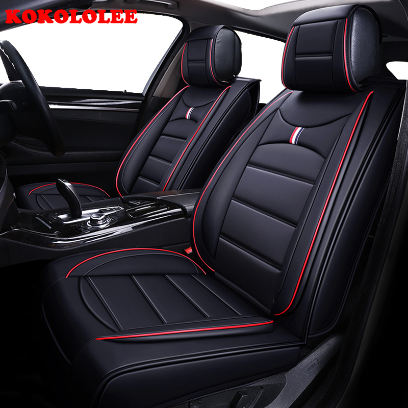 KOKOLOLEE Car Seat Covers for Land Rover all models Range Rover Freelander discovery 3 4 evoque auto accessories