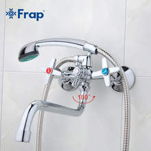 Frap Bathroom faucets long water outlet tube move 90 degrees left and right Simple style hot and cold water  F2220