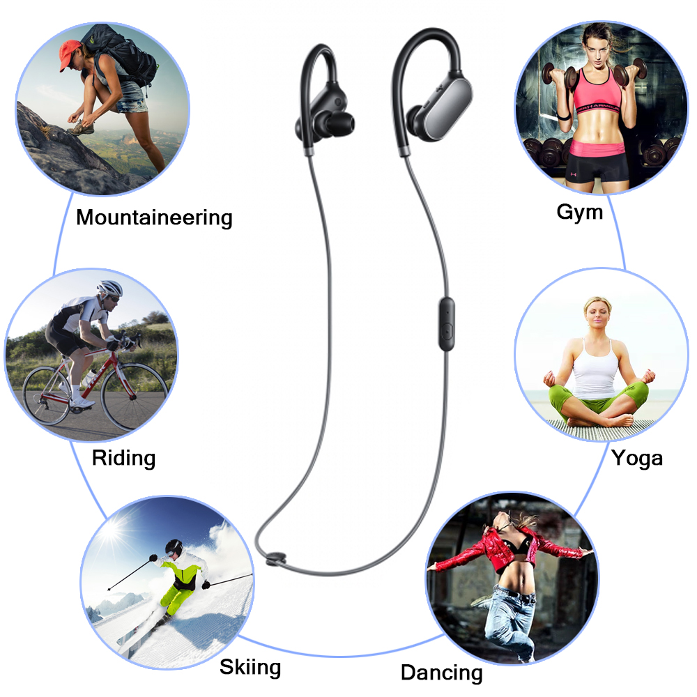 Original Xiaomi Mi Bluetooth Earphone Headset With Mic Sports Wireless Earbuds Bluetooth 4.1 Waterproof Xiaomi fone de ouvido headset bluetooth fones de ouvido bluetooth wireless earbuds in ear fone de ouvido bluetooth mini bluetooth headset qcy50