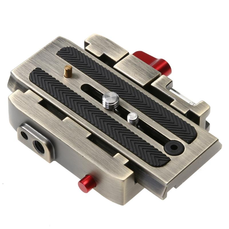 Aluminium Alloy Quick Release Plate P200 Adapter Compatible for Manfrotto 577 501 500AH 701HDV 503HDV Q5