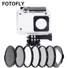 FOTOFLY Yi4K 52mm UV CPL ND 2 4 8 Filters on Waterproof Housing Case For Xiaomi Yi Lite 4K II 2 Action Camera Diving Accessories(China)