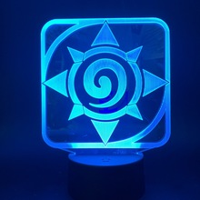 3d Led Night Light Lamp Game Hearthstone Kids Bedroom Nightlight Touch Sensor Color Changing Table Lamp Bedside Dropshipping lumiparty led table lamp sandglass sleep assistant nightlight rechargeable touch sensitive bedside night lamp minutes timer lamp
