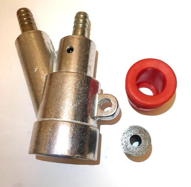 B Soort Zandstralen Gun Kit, Air Sandblaster Pistool Met 35*20*6 Mm Borium Carbide Nozzle