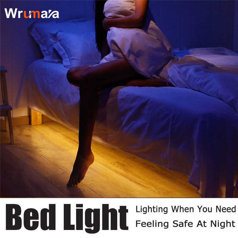 Wrumava 3W 30 LEDs Waterproof IP65 Induction LED Light Strip Bedside Motion Sensor Lamp Warm Light Night light Bar For Bedroom icoco sound control light 3w e27 light bulb voice activated intelligent led sensor lamp small night light for corridor bedroom