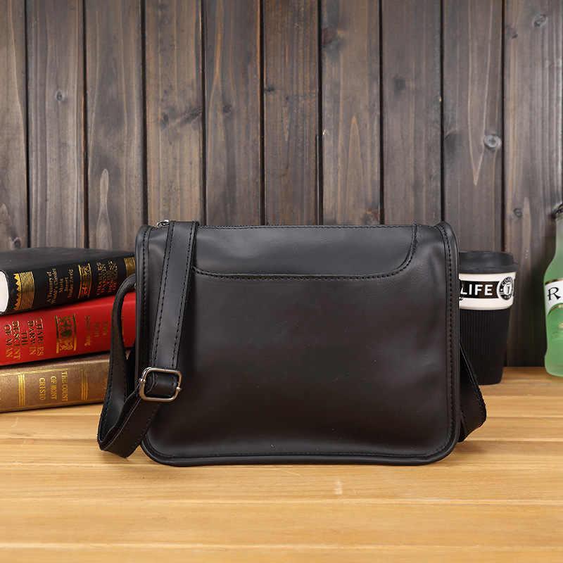 ef1a46f5a40d Роскошные Дизайнерские повседневные мужские кожаные сумки через плечо  мужские дорожные сумки черные коричневые знаменитые Брендовые мужские