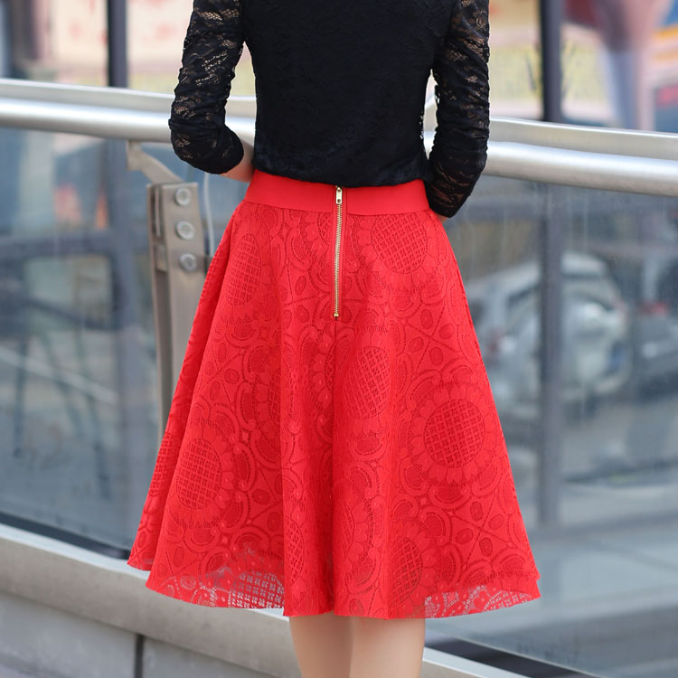 Aliexpress.com : Buy High Quality 2015 New Women Lace Skirt A Line ...