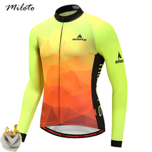 Cheji Winter Fleece Long Sleeve Cycling Jersey 2017 Pro Team Mens Racing Sport Bicycle Clothing Thermal MTB Bike