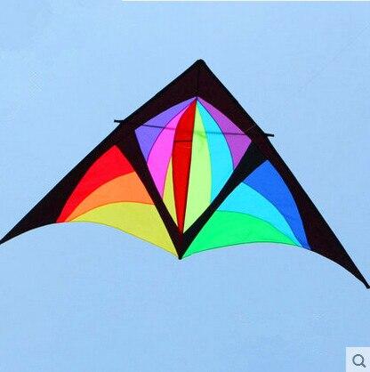 Nouveau haute qualité multicolore 168 pouces 5 carré puissance Delta cerf-volant carbone tige avec poignée ligne bon vol