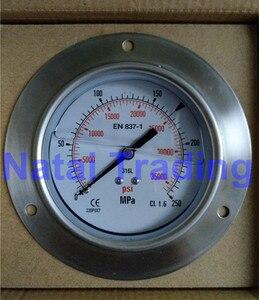 Image 1 - Spedizione Gratuita! 250Mpa M20X1.5 di riempimento olio di silicone Manometro di Alta Pressione 35000psi sistema di carburante ad alta pressione idraulica calibro