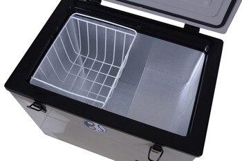 Free shipping to Russian 80L 12v Freezer Compressor Portable Fridge SolarPanel Fridge Solar Powered Fridge Camping Fridge