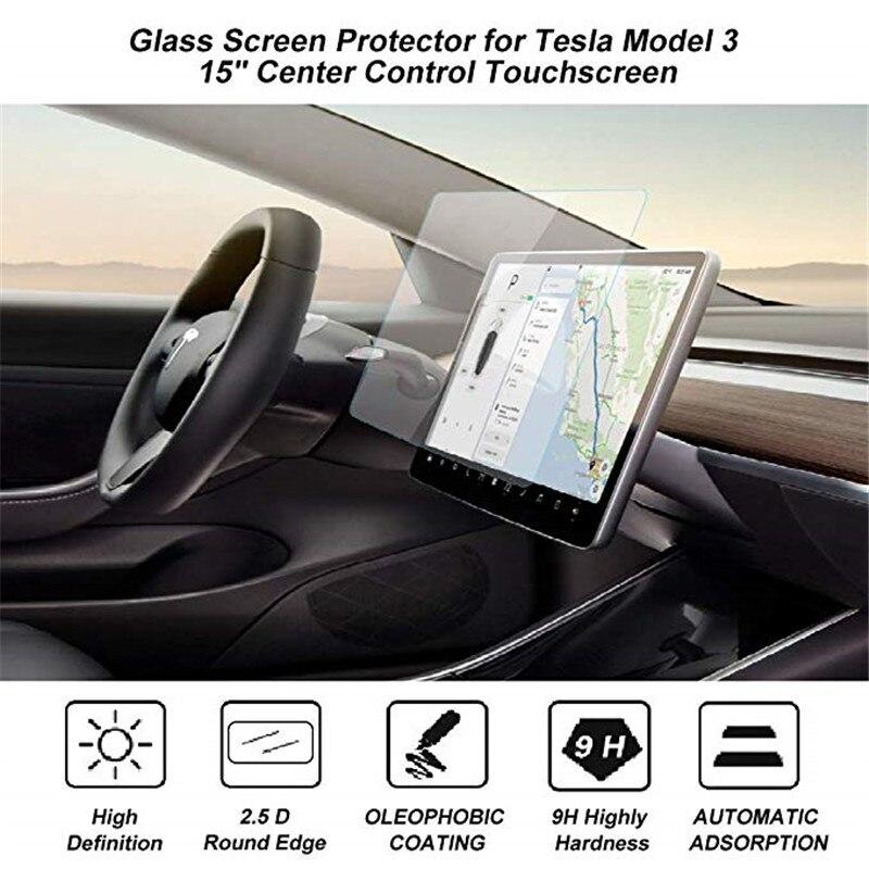 Tela de toque de navegação do carro vidro temperado protetor 15