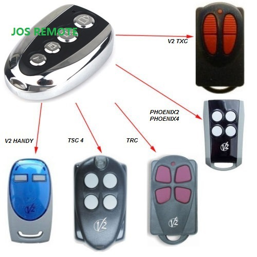 V2 compatible remote for V2 garage door remote ,model V2 TXC ,phoenix2,phoenix4,TSC4,TRC,V2 handy remote compatible цены