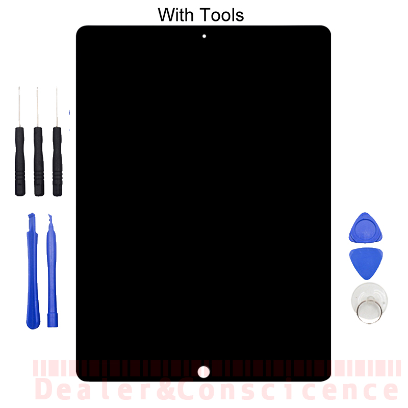 1Pcs (Tested) For Apple iPad Pro 12.9 (2015 Version) A1584 A1652 LCD Display Assembly Touch Screen Digitizer Panel+Tools high quality 12 9 for apple ipad pro 12 9 a1652 a1584 full lcd display with touch screen digitizer panel assembly complete