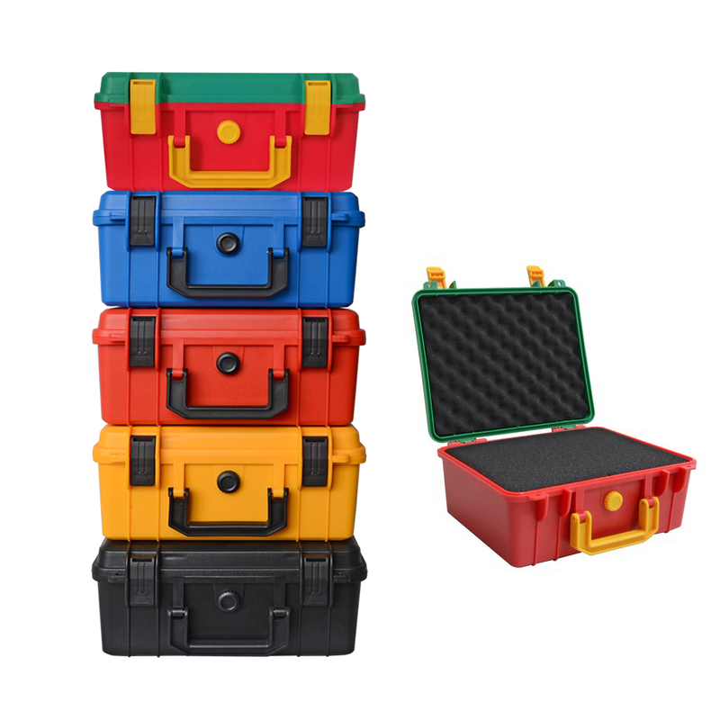 Tool Case Impact Resistant Case Protective Safety Toolbox ABS Plastic Storage Toolbox Sealed Tool Case Shockproof With Sponge