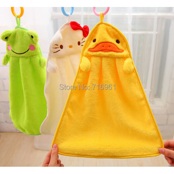 5 Color cartoon baby kids child infant newborn soft wash cloth bath feeding towel flannel wipe Hand Bath Towel Washcloths