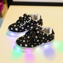 CHAMSGEND 2017 Fashion Baby Star Sneaker LED Luminous Child Toddler Casual Colorful Light Shoes   Sep11 Dropship