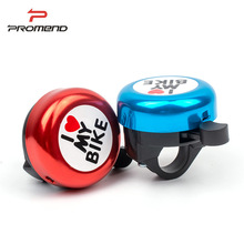 PROMEND Cute Lovely Safety Bicycle Bell I Love My Bike Alloy Clear Sound Handlebar Bike Horn Alarm Warning Bell Ring MTB Cycling usb charging bicycle bell electric horn with alarm loud sound horn ring mtb road bike handlebar cycling safety anti theft alarm