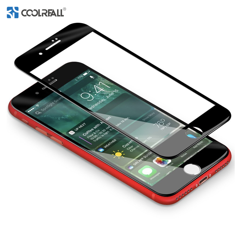 Coolreall  9H High Strength 0.33MM Screen Protector For IPhone 7 8 6 6s Plus X 3D Full Covered Tempered Glass Premium Front Film