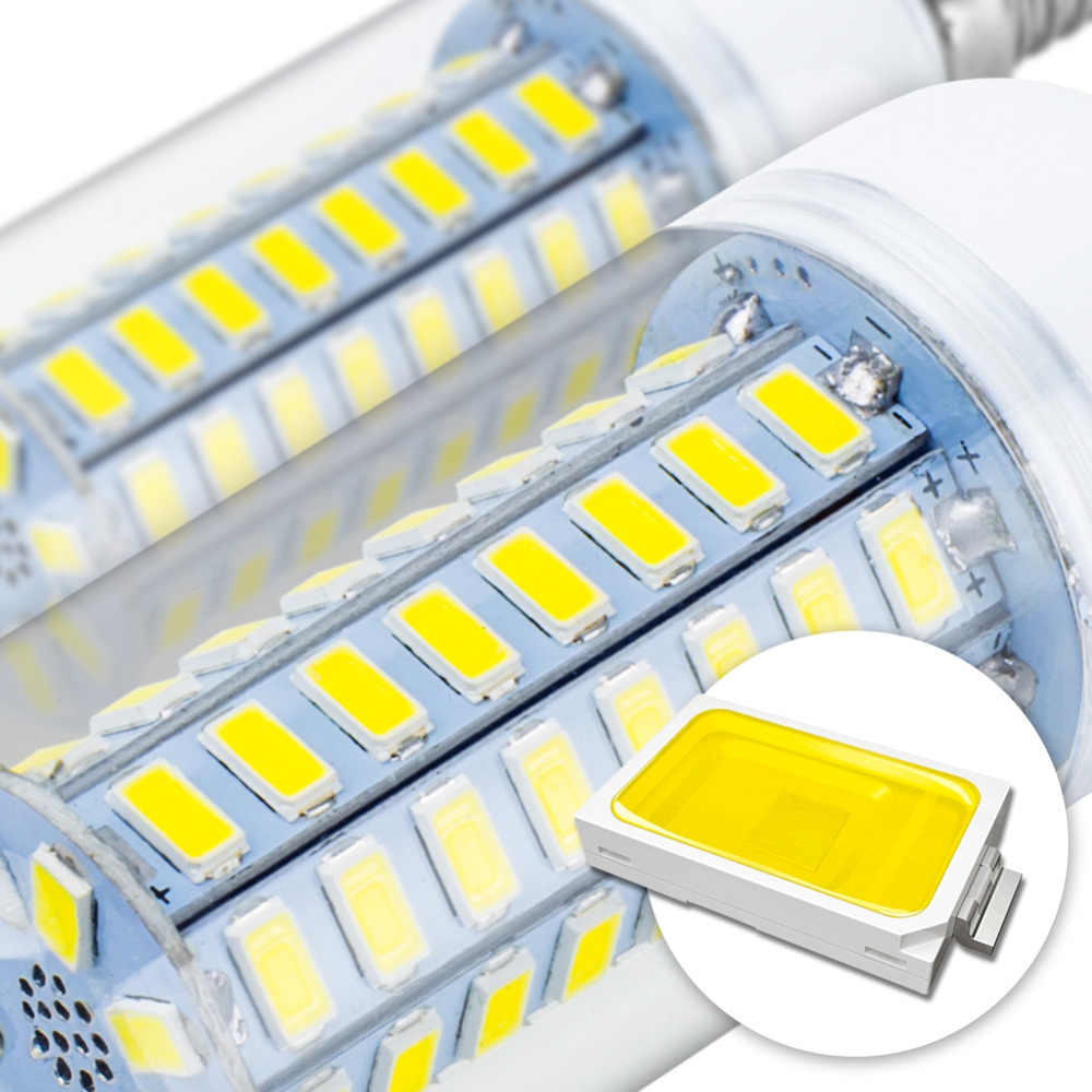 5730 smd 電球 led E27 gu 10 led 220 v キャンドルランプ lampadine led E14 トウモロコシ電球 7 ワット 9 ワット 12 ワット 15 ワット 18 ワット 20 ワットアンプルホーム ac 230 v