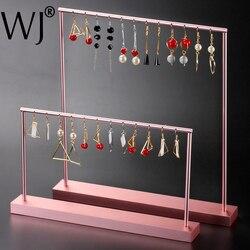 Luxus Rose Gold Metall Aufhänger Anhänger Halskette Ohrringe Schmuck-Display Stand Halter Rack Armband Kette Ornament Zeigen Organizer