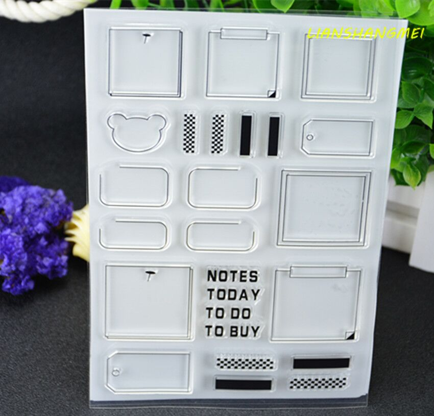 Note box Transparent Clear Silicone Stamp/Seal for DIY scrapbooking/photo album Decorative clear stamp lovely animals and ballon design transparent clear silicone stamp for diy scrapbooking photo album clear stamp cl 278