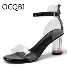 Womens High Clear Heel Sandal Shoes Summer Single Strap Sandals Casual Platform Black Pink Bridals