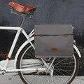 Tourbon Vintage Leinwand Bike Rear Seat Pannier Tasche Fahrrad Träger Messenger Taschen für Radfahren Wasser Abweisend Laptop Aktentasche