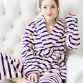 Hot Sale Winter Lady Pajamas Bath Robe Sleepwear Womens Robes Coral Velvet Bathrobes Women Cartoon Floral Homewear Asia Size M-L