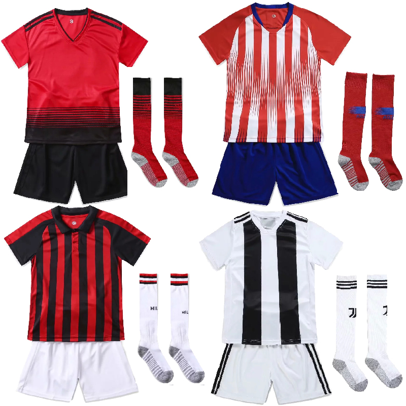 6b317f67272 youth Kids Football Training Set Customize Adults   children Short Sleeve  Soccer