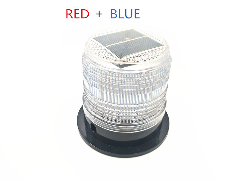 white colors BLUE RED LED Solar Warning Light car burst flash  traffic and road safety warning lights Marine Safety Beacon Light|Traffic Light| |  -