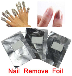 100pcs nail remove foil soak off uv gel acrylic wraps